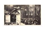 Billy Sunday, 1923 Reproduction procédé giclée par George Wesley Bellows
