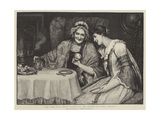 And True Love Knots Lurked in the Bottom of Every Teacup Giclee Print by George Sheridan Knowles