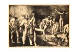 Business-Men's Bath, 1923 Giclee-trykk av George Wesley Bellows