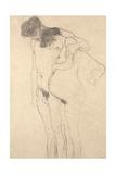 Pregnant Woman with Man: Study for Hoffnung I, C.1903-4 Giclée-Druck von Gustav Klimt