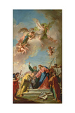 The Delivery of the Keys to St. Peter Giclée-tryk af Giovanni Battista Pittoni
