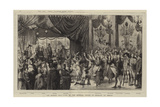 The Masked Ball Given by the Imperial Prince of Germany at Berlin Reproduction procédé giclée par Godefroy Durand