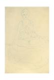 Seated Half-Length Nude from the Front; Sitzender Halbakt Von Vorne Giclée-Druck von Gustav Klimt
