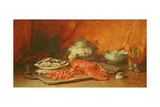 Luncheon of Lent Giclée-tryk af Guillaume Romain Fouace