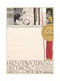 Poster for the First Secessionist Exhibition in Vienna in 1898 (Censored Version), 1898 Giclée-Druck von Gustav Klimt