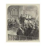 Consecration at Westminster Abbey Reproduction procédé giclée par Godefroy Durand