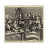 Installation of Prince Leopold as Grand Master of the Oxfordshire Freemasons in the Sheldonian Thea Reproduction procédé giclée par Godefroy Durand