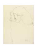 Half-Length Portrait of a Girl in Three-Quarter Profile, 1913 Giclée-Druck von Gustav Klimt