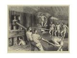 Macaroni Makers at Naples Giclée-tryk af Godefroy Durand