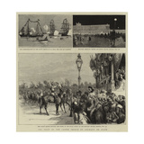 The Visit of the Crown Prince of Germany to Spain Reproduction procédé giclée par Godefroy Durand