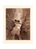 The Two Goats Giclée-Druck von Gustave Dore