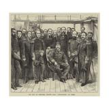 The King of Portugal Visiting HMS Challenger at Lisbon Reproduction procédé giclée par Godefroy Durand