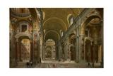 Interior of St. Peter's, Rome, 1731 Reproduction procédé giclée par Giovanni Paolo Pannini