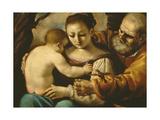 Holy Family Lámina giclée por  Guercino