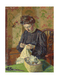 Woman Sewing, C. 1908 Giclée-tryk af Harold Gilman