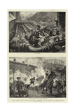 The London Gas Supply, Sketches Showing the Method of Manufacture Giclee Print by Henri Lanos