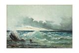 La Vague Reproduction procédé giclée par Gustave Courbet