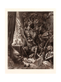 Don Quixote in His Library Giclee Print by Gustave Dore