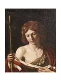 St John the Baptist, 1645 Lámina giclée por  Guercino