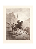 Don Quixote and Sancho Setting Out Giclée-Druck von Gustave Dore