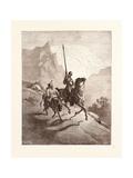 Don Quixote and Sancho Setting Out Impressão giclée por Gustave Dore