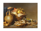 A Still Life of Fish and Other Food Giclee Print by Harmen van Steenwyck