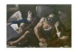 St Matthew and the Angel, 1621-23 Lámina giclée por  Guercino