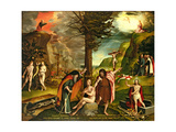 Allegory of the Old and New Testaments, Early 1530s Reproduction procédé giclée par Hans Holbein the Younger