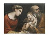 The Holy Family, 1615-16 Lámina giclée por  Guercino