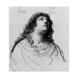 La Magdalena penitente por Guido Reni Lámina giclée por  Guercino