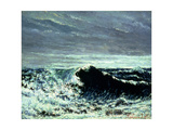 The Wave, C.1869 Giclee Print by Gustave Courbet