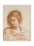Head of a Young Woman, 1650 - 1666 Lámina giclée por  Guercino