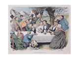 Wedding Celebration, End Nineteenth Century Giclee Print by Henri Pille