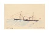 Scotia', a Cunard Steamship, C.1879-80 Lámina giclée por Henri de Toulouse-Lautrec