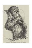 Uran-Utan, Presented to the Zoological Society Lámina giclée por Harrison William Weir