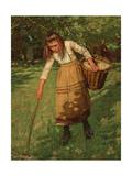 The Wool Gatherer Giclee Print by Henry Herbert La Thangue