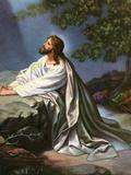 Christ in the Garden of Gethsemane by Heinrich Hofmann, 1930S Giclée-tryk af Heinrich Hofmann