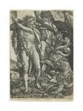 Hercules Destroys the Lernaean Hydra, 1550 Giclee Print by Heinrich Aldegrever