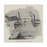 In the Dockyard, Port Arthur Reproduction procédé giclée par Henry Charles Seppings Wright