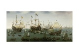The Return to Amsterdam of the Second Expedition to the East Indies, 1599 Lámina giclée por Hendrick Cornelisz. Vroom