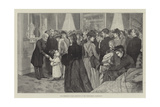 The President's Public Reception at the White House, Washington Reproduction procédé giclée par Henry Charles Seppings Wright