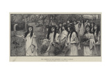 The Gathering of the Mistletoe Giclee Print by Henry Meynell Rheam