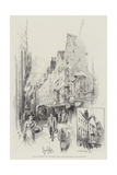 Bits of Old London, the White Horse Tavern, Fetter Lane, Shortly to Be Pulled Down Giclee Print by Herbert Railton