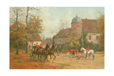 Arriving for the Hunt, 19th Century Giclee Print by G. Koch