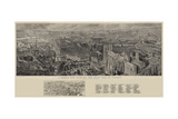 A Bird's Eye View of the West End of London Giclee Print by Henry William Brewer