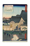Temple at Tsukiji, November 1862 Giclee Print by Hiroshige II