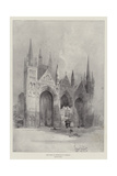 West Front of Peterborough Cathedral Giclee Print by Herbert Railton