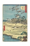 Homing Geese at Shirahige, November 1861 Giclee Print by Hiroshige II