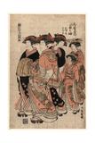 Daimonjiya Uchi Tagasode Giclee Print by Isoda Koryusai