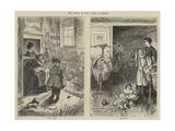 The Creche, or Baby's Home, in Stepney Gicléedruk van Howard Pyle